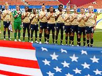 USA stand in line for the national anthem..FIFA U17 Women's World Cup, Paraguay v USA, Waikato Stadium, Hamilton, New Zealand, Sunday 2 November 2008. Photo: Renee McKay/PHOTOSPORT