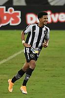 Rio de Janeiro (RJ), 07/03/2021 - Botafogo-Resende - Warley jogador do Botafogo comemora seu gol,durante partida contra o Resende,válida pela 2ª rodada da Taça Guanabara,realizada no Estádio Nilton Santos (Engenhão), na zona norte do Rio de Janeiro,neste domingo (07).