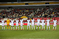 GUADALAJARA, MEXICO - MARCH 24: USMNT U-23 Starting XI before a game between Mexico and USMNT U-23 at Estadio Jalisco on March 24, 2021 in Guadalajara, Mexico.