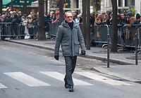 January 12 2018, Paris, France - Funerals of Singer France Gall in Montmartre Cemetery in Paris. Bertrand Delanoe is present. # OBSEQUES DE FRANCE GALL AU CIMETIERE DE MONTMARTRE