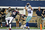 Dallas Cowboys wide receiver Dez Bryant (88) and Houston Texans safety D. J. Swearinger (36) in action during the pre-season game between the Houston Texans and the Dallas Cowboys at the AT & T stadium in Arlington, Texas. Houston leads Dallas 14 to 3 at halftime.