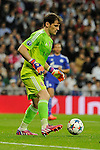 Real Madrid´s goalkeeper Iker Casillas during 2014-15 Champions League match between Real Madrid and FC Shalke 04 at Santiago Bernabeu stadium in Madrid, Spain. March 10, 2015. (ALTERPHOTOS/Luis Fernandez)