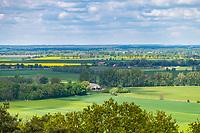 Blick vom Gollenberg auf die Landschaft um Stölln, Havelland, Brandenburg, Deutschland