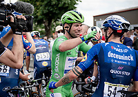 lots of joyous emotions at Team Deceuninck-Quickstep as Mark Cavendish (GBR/Deceuninck - Quick Step) wins his 2nd stage in this Tour<br /> <br />  Stage 6 from Tours to Châteauroux (160km)<br /> 108th Tour de France 2021 (2.UWT)<br /> <br /> ©kramon