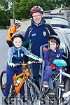 Liam, Tadgh and Tadgh Jr O'Connor  at the Castleisland Day Care centre cycle on Sunday