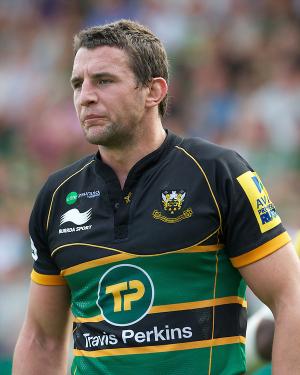 Phil Dowson of Northampton Saints looks on during the Aviva Premiership match between Northampton Saints and Exeter Chiefs at Franklin's Gardens on Sunday 9th September 2012 (Photo by Rob Munro)