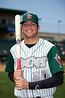 Fort Wayne TinCaps Hudson Potts (20) poses for a photo after a game against the Wisconsin Timber Rattlers on May 10, 2017 at Parkview Field in Fort Wayne, Indiana.  Fort Wayne defeated Wisconsin 3-2.  (Mike Janes/Four Seam Images)