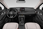 Stock photo of straight dashboard view of 2019 Mazda CX-3 Skycruise 5 Door SUV Dashboard