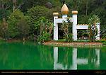 Mahatma Gandhi World Peace Memorial, Self-Realization Fellowship Lake Shrine, Pacific Palisades, Los Angeles, California