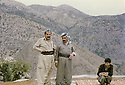 Iraq 1982 .In Nawzang, near Zahle, from left to right Jalal Talabani, Salah Moutedi and Hatige Yachar .Irak 1982 .A nawzang, pres de Zahle, de gauche a droite, Jalal Talabani, Salah Moutedi et Hatige Yachar