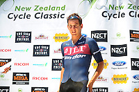 Racewinner Alex Frame (JLT Condor) after stage five of the NZ Cycle Classic UCI Oceania Tour in Masterton, New Zealand on Tuesday, 26 January 2017. Photo: Dave Lintott / lintottphoto.co.nz