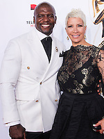 PASADENA, CA, USA - OCTOBER 10: Terry Crews, Rebecca Crews arrive at the 2014 NCLR ALMA Awards held at the Pasadena Civic Auditorium on October 10, 2014 in Pasadena, California, United States. (Photo by Celebrity Monitor)