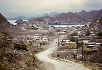 Oman, February 1972.  View of Sidab from Muscat.  Compare to Oman_916_02 of February 2004.