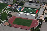 aerial photograph of University Stadium, University of New Mexico, Albuquerque, New Mexico