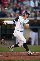 Dayton Dragons outfielder Brian O'Grady (21) at bat during a game against the Great Lakes Loons on May 21, 2015 at Fifth Third Field in Dayton, Ohio.  Great Lakes defeated Dayton 4-3.  (Mike Janes/Four Seam Images)