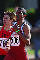 4 May 2008: Stanford Cardinal Justin Reed during Stanford's Payton Jordan Cardinal Invitational at Cobb Track & Angell Field in Stanford, CA.