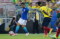 Action photo during the match Brazil vs Ecuador, Corresponding Group -B- America Cup Centenary 2016, at Rose Bowl Stadium<br /> <br /> Foto de accion durante el partido Brasil vs Ecuador, Correspondiante al Grupo -B-  de la Copa America Centenario USA 2016 en el Estadio Rose Bowl, en la foto: Dani Alves de Brasil<br /> <br /> <br /> 04/06/2016/MEXSPORT/Victor Posadas.