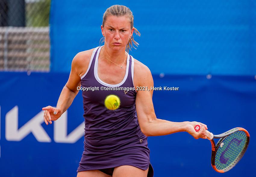 Amstelveen, Netherlands, 7 Juli, 2021, National Tennis Center, NTC, Amstelveen Womans Open, Quirine Lemoine (NED)<br /> Photo: Henk Koster/tennisimages.com