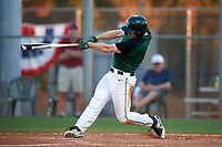 Dartmouth Big Green right fielder Kyle Holbrook (9) at bat during a game against the Northeastern Huskies on March 3, 2018 at North Charlotte Regional Park in Port Charlotte, Florida.  Northeastern defeated Dartmouth 10-8.  (Mike Janes/Four Seam Images)