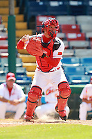 Catcher Yang Yang (2) of the China National Team during a game vs. the Washington Nationals Instructional League team at Holman Stadium in Vero Beach, Florida September 28, 2010.   China is in Florida training for the Asia games which will be played in Guangzhou, China in November.  Photo By Mike Janes/Four Seam Images