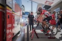 Rafael Valls (ESP/Lotto-Soudal) warming down after finishing the race<br /> <br /> Stage 5: La Tour-de-Salvagny › Mâcon (175km)<br /> 69th Critérium du Dauphiné 2017