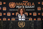 Opening Plenary Meeting of the Nelson Mandela Peace Summit<br /> <br /> Her Excellency Epsy CAMPBEL  BARRVice President of the Republic of Costa Rica