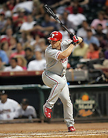 Philadelphia Phillies OF Geoff Jenkins on Thursday May 22nd at Minute Maid Park in Houston, Texas. Photo by Andrew Woolley / Four Seam Images..