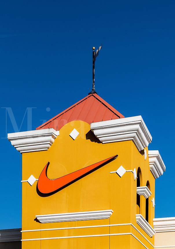 Nike factory outlet store, Orlando, Florida, USA.