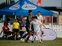 Frisco, Texas - Thursday, July 26, 2018: 2018 US Youth Soccer National Championships. United SA Mount Pleasant 03 Premier vs OK Energy FC Central 03