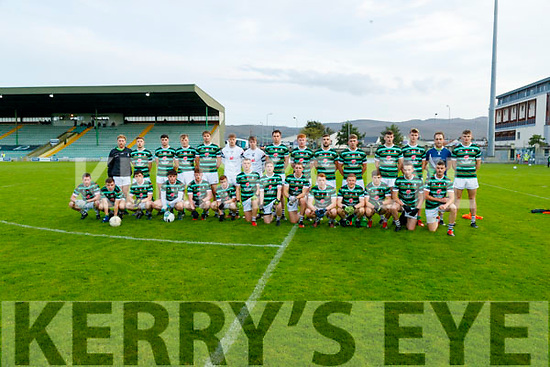 St Brendan's team before the Kerry County Senior Football Championship Semi-Final match between East Kerry and St Brendan's at Austin Stack Park in Tralee, Kerry.