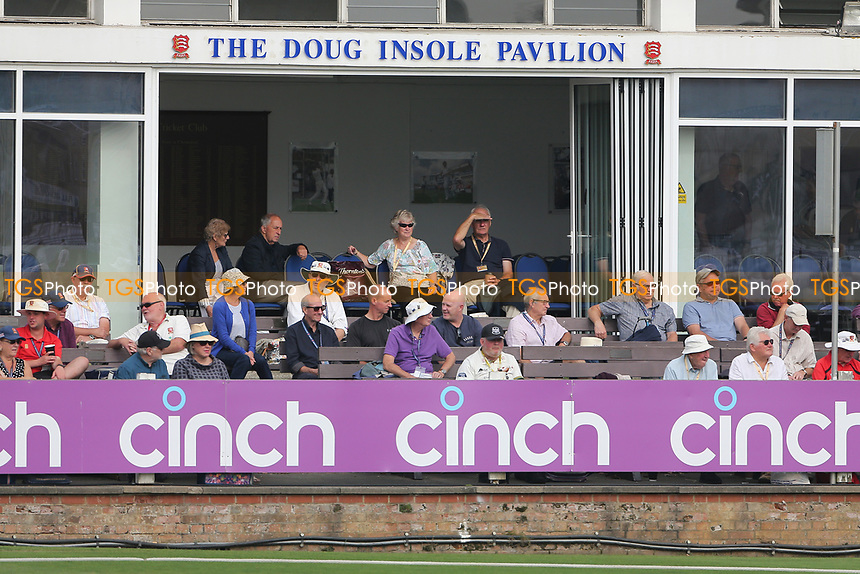 Spectators look on from the pavilion during Essex CCC vs Gloucestershire CCC, LV Insurance County Championship Division 2 Cricket at The Cloudfm County Ground on 5th September 2021