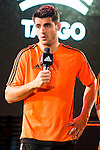 """Real Madrid player Alvaro Morata during the presentation of the new pack of Adidas football shoes """"Speed of Light"""" in Madrid. September 16, 2016. (ALTERPHOTOS/Borja B.Hojas)"""