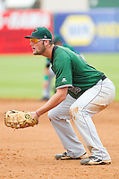 Augusta GreenJackets first baseman Joey Rapp (26) on defense against the Greensboro Grasshoppers at NewBridge Bank Park on August 11, 2013 in Greensboro, North Carolina.  The GreenJackets defeated the Grasshoppers 6-5 in game one of a double-header.  (Brian Westerholt/Four Seam Images)