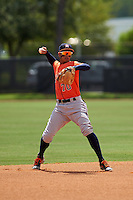 dHouston Astros shortstop Miguelangel Sierra (70) during an Instructional League game against the Atlanta Braves on September 26, 2016 at Osceola County Stadium Complex in Kissimmee, Florida.  (Mike Janes/Four Seam Images)