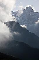 Europe/France/Provence-Alpes-Côtes d'Azur/06/Alpes-Maritimes/Alpes-Maritimes/Arrière Pays Niçois/Tende: Au Col de Tende vue  sur le sommet de la Bastera env 2600 dans le massif de la Roche de l'Abisse