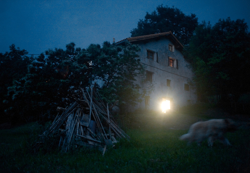 The summer receives the welcome in a Basque farmhouse of Intza village on June 21, 2014, Basque Country. Coinciding with the summer solstice, the change of season was celebrated in the farmhouse with a dinner, music, friends and a around a bonfire. (Ander Gillenea / Bostok Photo)