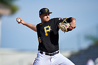 Pittsburgh Pirates relief pitcher Dovydas Neverauskas (66) delivers a pitch during a Spring Training game against the Tampa Bay Rays on March 10, 2017 at LECOM Park in Bradenton, Florida.  Pittsburgh defeated New York 4-1.  (Mike Janes/Four Seam Images)