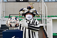 mascotte of Eendracht Aalst  pictured during a female soccer game between Eendracht Aalst and SV Zulte Waregem on the seventh matchday of the 2020 - 2021 season of Belgian Scooore Womens Super League , Saturday 14 th of November 2020  in Aalst , Belgium . PHOTO SPORTPIX.BE | SPP | DIRK VUYLSTEKE
