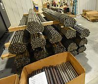 Steel rods will eventually    July 14 2021     become gun barrels.<br />(NWA Democrat-Gazette/Flip Putthoff)