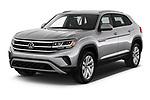 2020 Volkswagen Atlas-Cross-Sport SE-w/Tech 5 Door SUV Angular Front automotive stock photos of front three quarter view