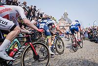 up the infamous Kapelmuur /Muur van Geraardsbergen<br /> <br /> 103rd Ronde van Vlaanderen 2019<br /> One day race from Antwerp to Oudenaarde (BEL/270km)<br /> <br /> ©kramon