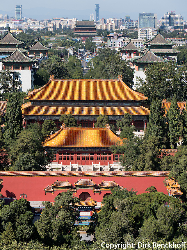 Jingshanhügel in Peking, China, Asien