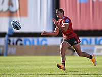 5th September 2020; Kingsholm Stadium, Gloucester, Gloucestershire, England; English Premiership Rugby, Gloucester versus London Irish; Jonny May passes to Louis Rees-Zammit of Gloucester who scores a try