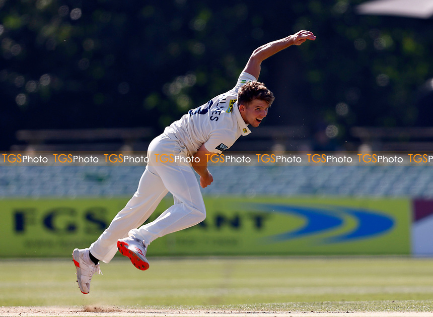 Matt Milnes bowls for Kent during Kent CCC vs Worcestershire CCC, LV Insurance County Championship Division 3 Cricket at The Spitfire Ground on 7th September 2021