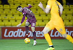 Livingston v St Johnstone…31.10.18…   Tony Macaroni Arena    SPFL<br />Tony Watt sqwuares the ball leaving Matty Kennedy a simple tap in to open the scoring<br />Picture by Graeme Hart. <br />Copyright Perthshire Picture Agency<br />Tel: 01738 623350  Mobile: 07990 594431