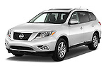 2015 Nissan Pathfinder Sl 2Wd 5 Door Suv 2WD Angular Front stock photos of front three quarter view