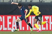 WIENER NEUSTADT, AUSTRIA - MARCH 25: Gio Reyna #7 of the United States during a game between Jamaica and USMNT at Stadion Wiener Neustadt on March 25, 2021 in Wiener Neustadt, Austria.