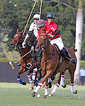 WELLINGTON, FL - FEBRUARY 12:  Wes Finlayson #2 of Coca Cola controls the ball down the field towards the goal  during Sunday's Feature Match vs Valiente II in the Ylvisaker Cup, at the International Polo Club, Palm Beach on February 12, 2017 in Wellington, Florida. (Photo by Liz Lamont/Eclipse Sportswire/Getty Images)