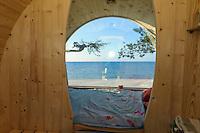 Campingplatz bei Kap Kolka, Lettland, Europa