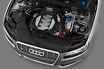 High angle engine detail of a 2007 - 2011 Audi S5 Coupe.
